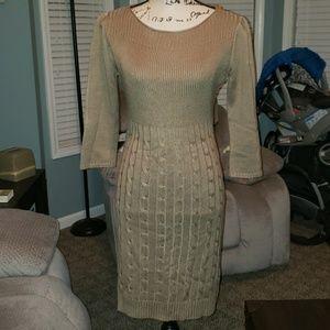New Calvin Klein Long Sleeve Sweater Dress